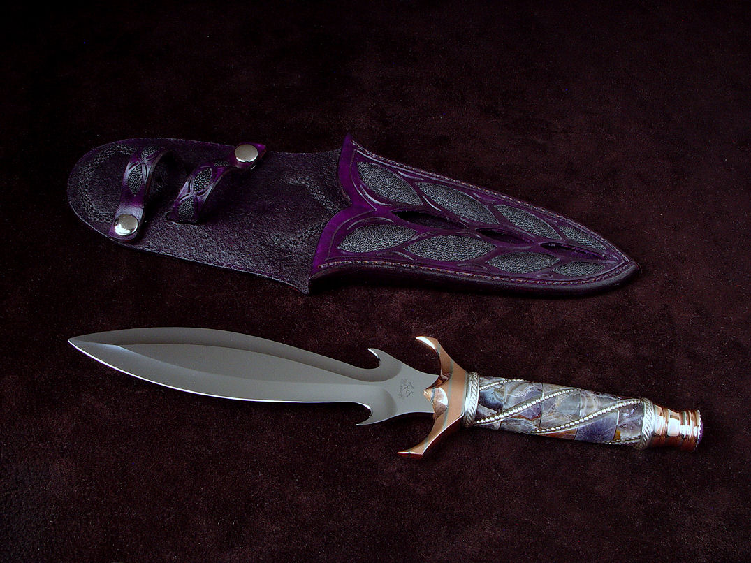Quot Amethystine Quot Fine Handmade Dagger By Jay Fisher